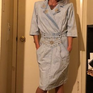 80's denim dress